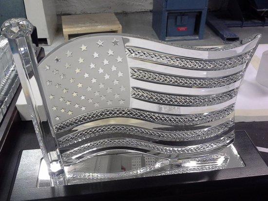 Waterford Crystal: American Flag Masterpiece on Display