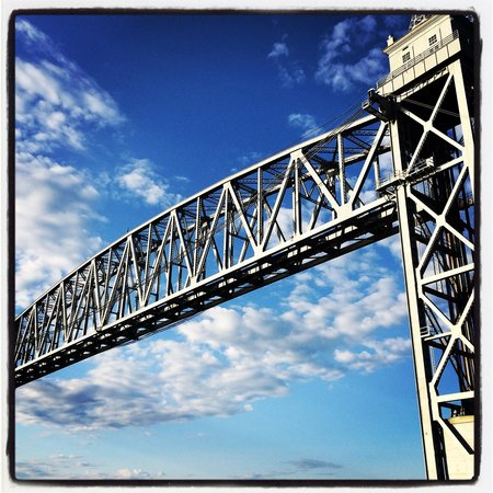 Cape Cod Canal: The train bridge.
