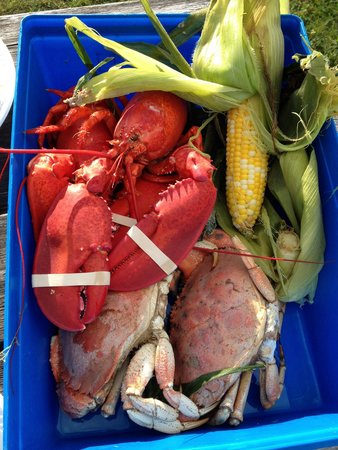 Travelin Lobster: US$39.95 for large dinner for 2. Awesome!