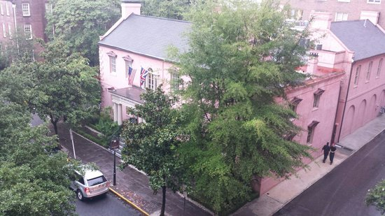 The Olde Pink House : Aerial View