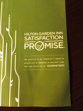 Hilton Garden Inn Indianapolis South/Greenwood: Did not live up to this.