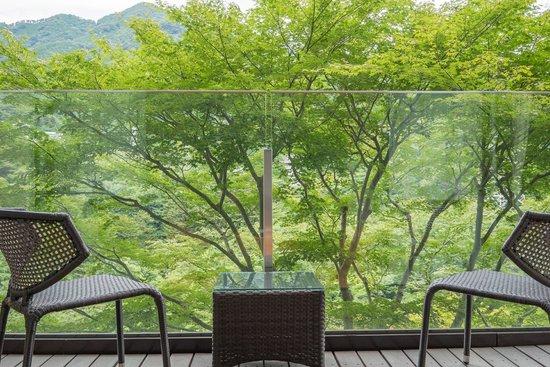 Kanaya Hotel Kinugawa: 客室バルコニーからの景色