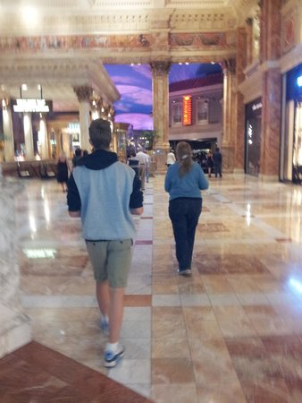 Caesars Palace: walking away