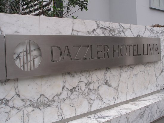 Dazzler Lima: Entrance sign