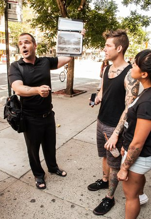 Lower East Side History Project Walking Tours: Eric leading tour