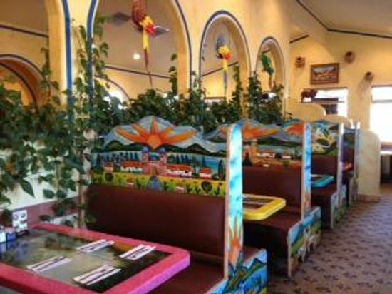 Chato's: Hand carved & hand painted booths