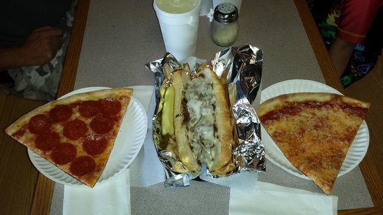Roma Pizza & Subs: Our lunch--huge huge portions
