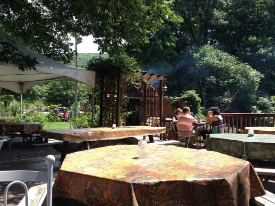 Top of the Hill Grill: Looking Toward Putney Road, and seeing the Smoke from the Kitchen