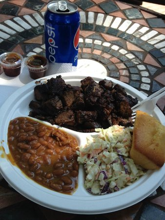 Top of the Hill Grill: Burnt Ends Dish - Delicious!