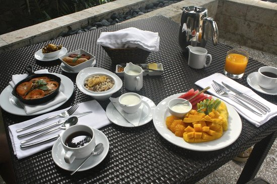 Abaca Boutique Resort: Breakfast spread