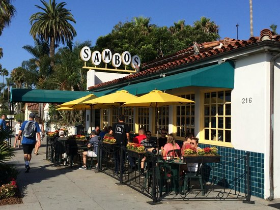 THE place to eat on the Santa Barbara waterfront: Sambo's!
