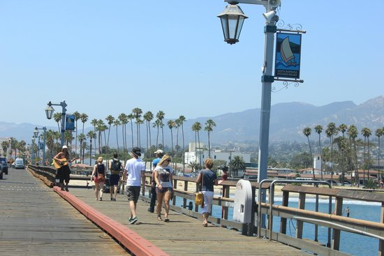 Santa Barbara Waterfront: Walking along the pier