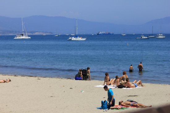Santa Barbara Waterfront: Catching some rays on the Santa Barbara shore