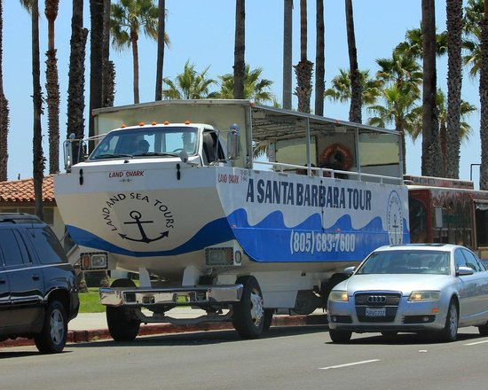 Santa Barbara Waterfront: A duckboat!
