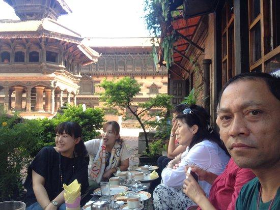 Shiva Guest House1 & 2: Japanese Group enjoying Breakfast