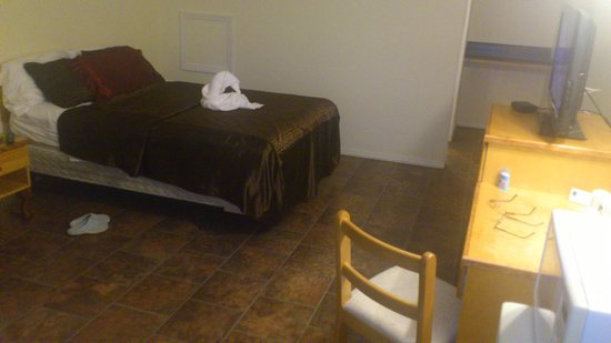 Perth-Andover, Canadá: clean large room, new floors.. reasonable cost...good size bathroom...microwave, mini fridge