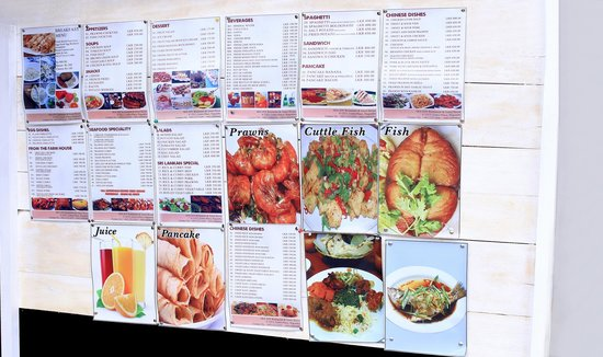 Our Menu- Sea food, Chinese, Asian and Sri Lankan Cuisines - Picture ...