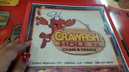 Crawfish Hole #2 Steak & Seafood Restaurant: The menu