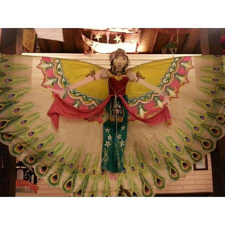 Kites From West Java Lady With The Costume Of Merak Dance