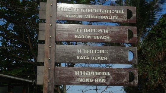Baan Halle Hallo: Kata beach sign
