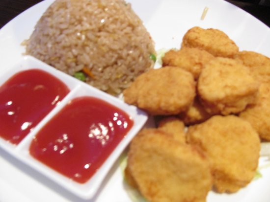 Urban Japanese Fusion Cuisine: Chicken nuggets on kid's menu