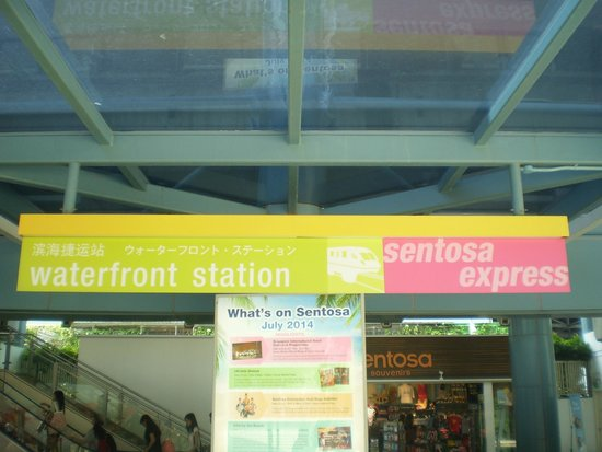 The Sentosa Express: The main and first platform in the Sentosa Islands