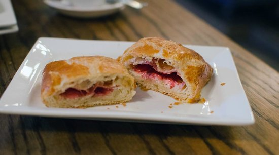 The Daily Grind: raspberry & cream cheese croissant