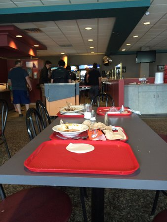 The Glacier View Inn: the cafeteria