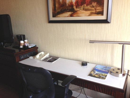 Sheraton Hamilton Hotel: Business work area with internet cable as well as wifi