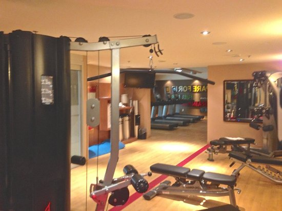 Sheraton Hamilton Hotel: Workout room with free and fixed weights plus machines