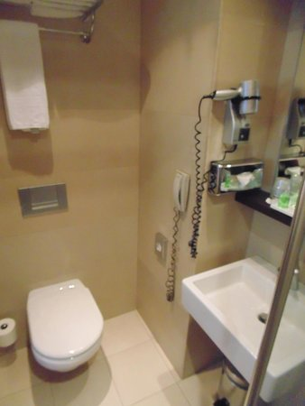 NH Brussels Louise : Baño bastante pequeño