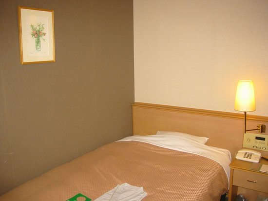 Takamatsu Tokyu REI Hotel : 狭いベッド