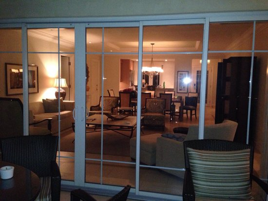 The Landings St. Lucia: View looking into room from front balcony