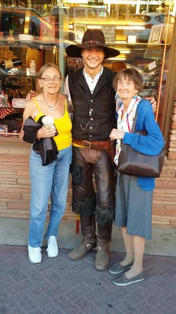 "Grand Canyon Railway: My mother and I with ""Turtle,"" pleasant young man for a train robber"