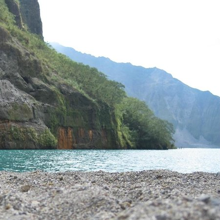 At the Crater Lake of Mount Pinatubo