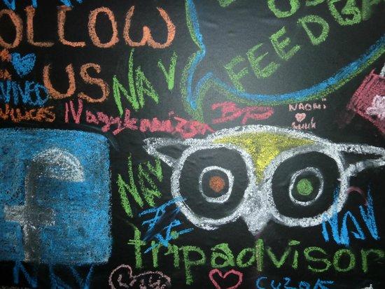 MindMaze Prague : A wall where you can write anything you like !