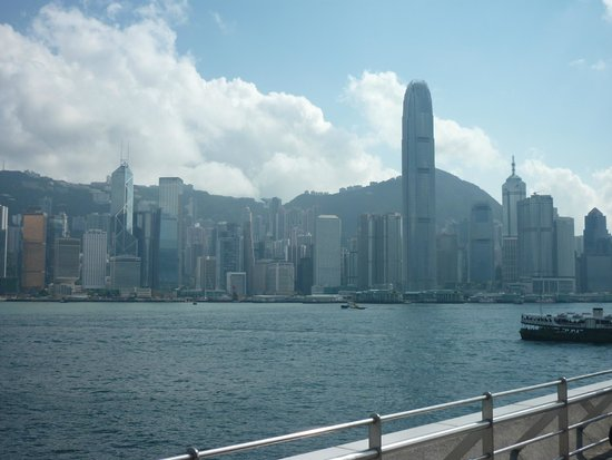 Overlooking Victoria Harbour & Hong Kong Island from Kowloon
