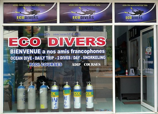Eco-Divers: Our shop in Klong Prao