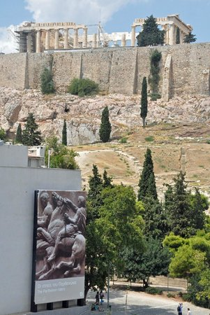 Looking outside from the Acropolis Museum