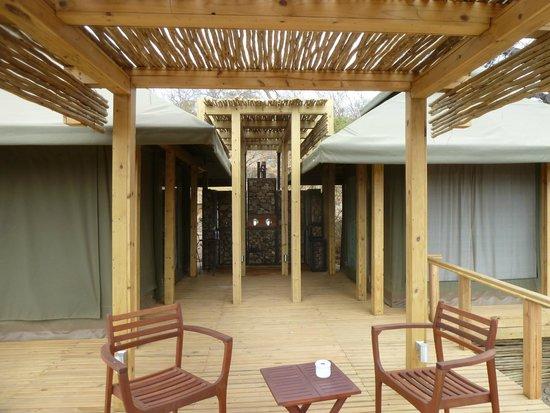 Simbavati Hilltop Lodge: shower between bedroom and bathroom