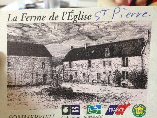La Ferme de l'Eglise: Postcard of the courtyard