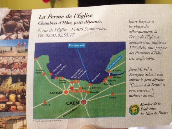 La Ferme de l'Eglise: Reverse side of the Postcard of the farm