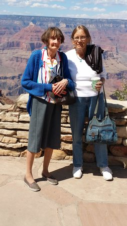 Grand Canyon South Rim: Dixie Carcaño, Beverly Schultz at Grand Canyon