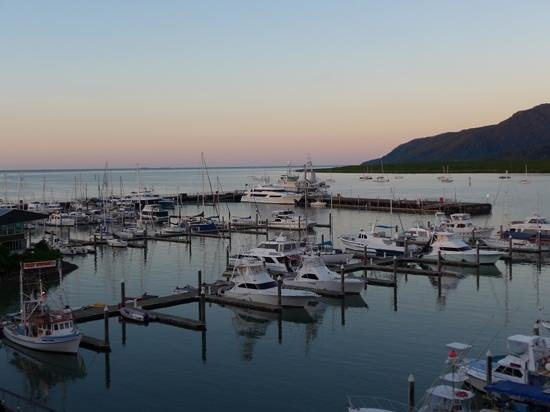 Shangri-La Hotel, The Marina, Cairns: view from room over the marina
