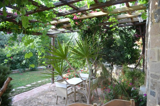 Angelica Villas: Terrasse de l'hôtel (petit-déjeuner)