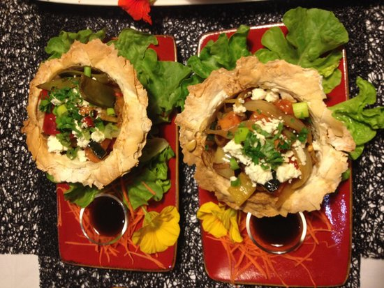 Riverview Rise Retreats : Roasted vegetable tartlets with feta