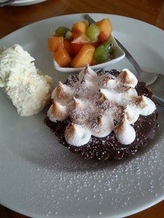 Cliffhanger Cafe: Triple chocolate salted peanut meringue tart! Absolutely delicious!!