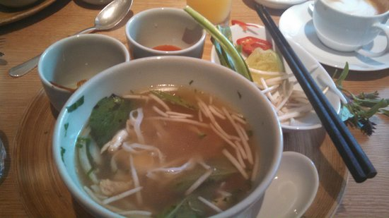 Park Hyatt Saigon : Breakfast Pho in the hotel restaurant in the morning.