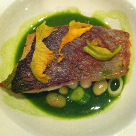 Roux at The Landau: Sea bream starter
