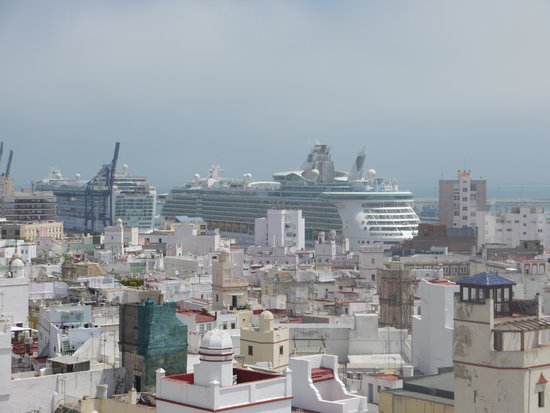 View from the top of the Torre Tavira Cadiz